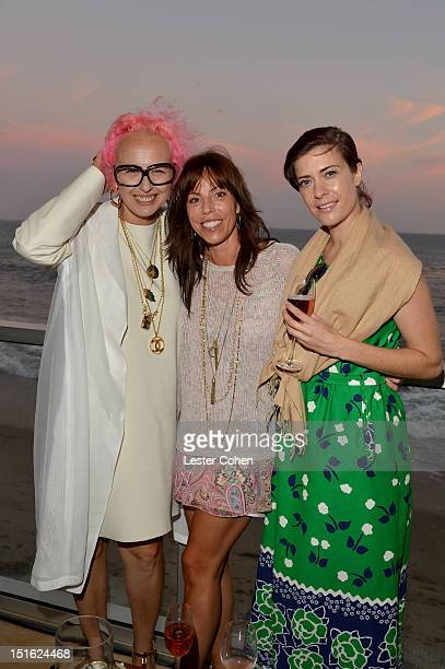 Designer Nony Tochterman Karen Zambos and Erica Hanson attend Lucky Brand Celebration of California Culture and Style on September 8 2012 in Malibu...