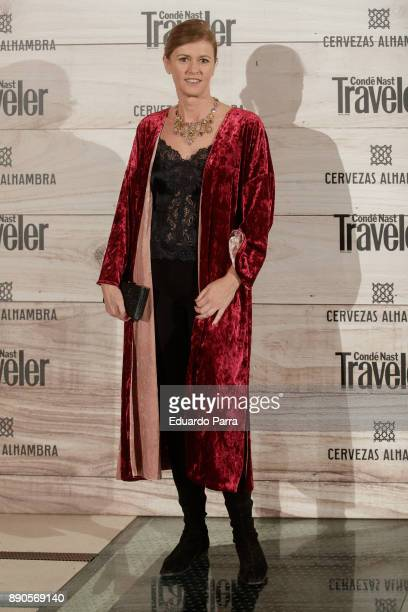 Designer Nuria March attends the 'Conde Nast Traveler Gastronomic and Wine Guide' photocall at Florida Retiro on December 11 2017 in Madrid Spain