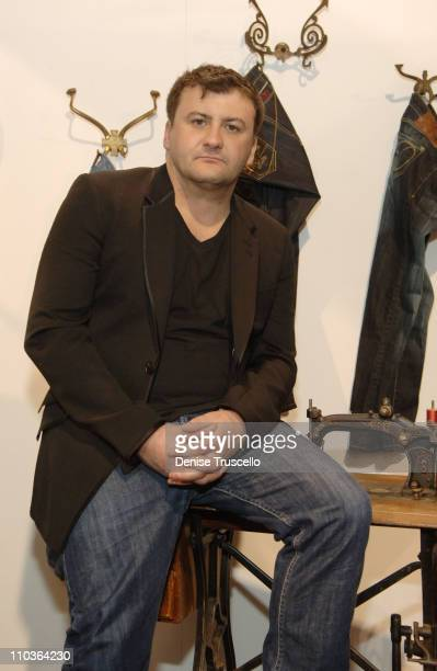 Designer of Artful Dodger Scott Langton attends the Artful Dodger booth at the MAGIC convention at the Las Vegas Convention Center on February 12,...