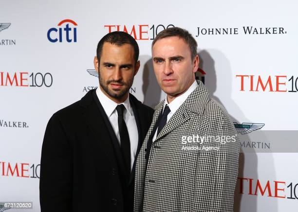 Designer of Calvin Klein Raf Simons attends the 2017 TIME 100 Gala at Jazz at Lincoln Center in New York United States on April 25 2017