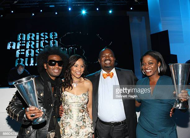 Designer of the Year David Tlale Dr Precious MoloiMotsepe CEO of Africa Fashion International Nduka Obaigbena CEO of THISDAY Group Designer of the...