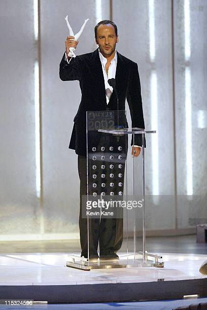 Designer of the Year Tom Ford of Yves Saint Laurent/ Rive Gauche at The 2002 VH1 Vogue Fashion Awards