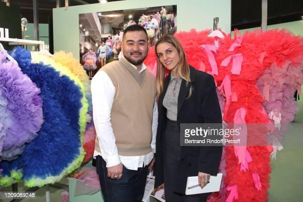 Designer of Tomo Koizumi Tomotoka Koizumi and Gaia Repossi attend the LVMH Prize 2020 Designers Presentation on February 27 2020 in Paris France