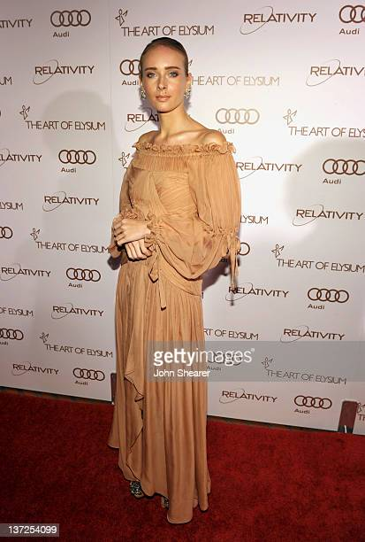 Designer Olga Sorokina arrives at Audi presents The Art of Elysium's 5th annual HEAVEN at Union Station on January 14, 2012 in Los Angeles,...