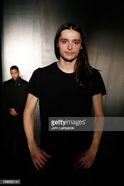 Designer Oliver Theyskens attends the Theyskens' Theory Fall 2011 fashion show during Mercedes-Benz Fashion Week at Center 548 on February 14, 2011...