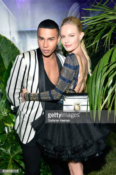 Designer Olivier Rousteing and Kate Bosworth at BALMAIN celebrates first Los Angeles boutique opening and Beats by Dre collaboration on July 20 2017...
