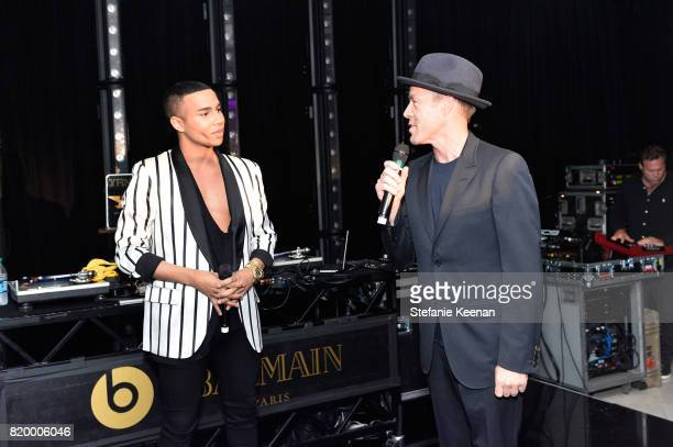 Designer Olivier Rousteing and President of Beats Electronics Luke Wood at BALMAIN celebrates first Los Angeles boutique opening and Beats by Dre...