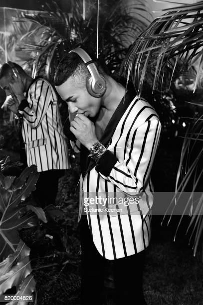 Designer Olivier Rousteing at BALMAIN celebrates first Los Angeles boutique opening and Beats by Dre collaboration on July 20 2017 in Beverly Hills...