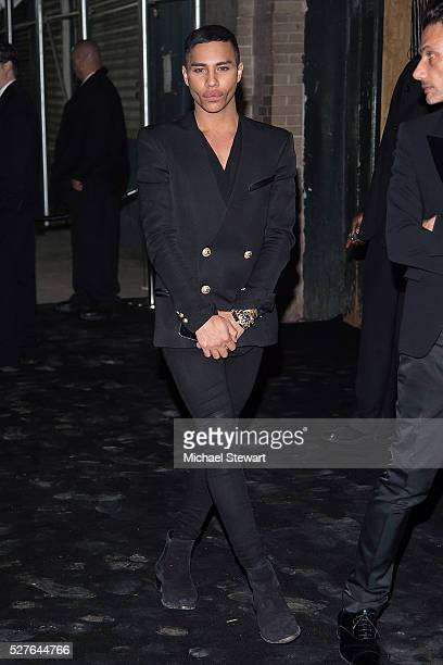 Designer Olivier Rousteing attends 'Manus x Machina Fashion in an Age of Technology' Costume Institute Gala Balmain after party at Gilded Lily on May...