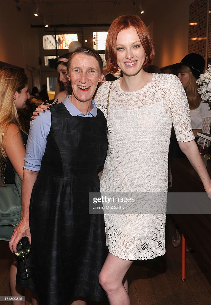 Designer Orla Kiely and model Karen Elson attend the Orla Kiely for Target Preview Party on July 23, 2013 in New York City.