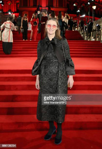Designer Orla Kiely attends The Fashion Awards 2017 in partnership with Swarovski at Royal Albert Hall on December 4 2017 in London England