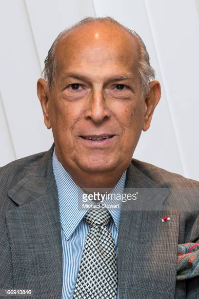 "Designer Oscar de la Renta attends the Launch of his new fragrance, ""Something Blue"" at Bloomingdale's 59th Street on April 18, 2013 in New York City."