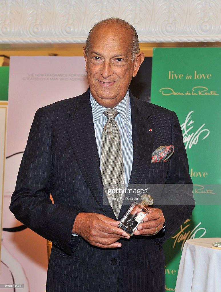 Designer Oscar de la Renta attends the premiere of Oscar de la Renta's new live in love fragrance at Lord And Taylor on October 12, 2011 in New York City.