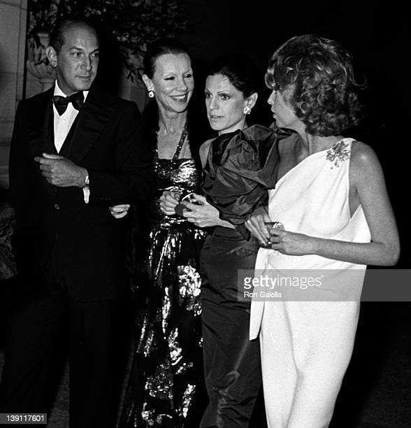 Designer Oscar de la Renta Francoise de Langlade Annette Reed and Louisa Mel attend Metropolitan Museum of Art of Costume Institute Exhibition...