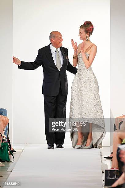 Designer Oscar De La Renta on the runway at the Oscar de la Renta spring 2013 fashion show during MercedesBenz Fashion Week on September 11 2012 in...