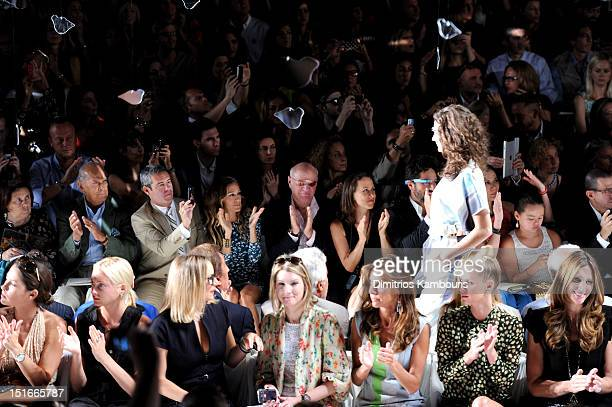 Designer Oscar De La Renta TV personality Andy Cohen actress Sarah Jessica Parker Barry Diller Chairman and Senior Executive of IAC/InterActiveCorp...