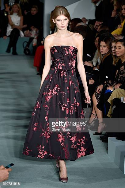 Designer Oscar de la Renta walks the runway wearing Oscar De La Renta Fall 2016 during New York Fashion Week at Prince George Ballroom on February 16...