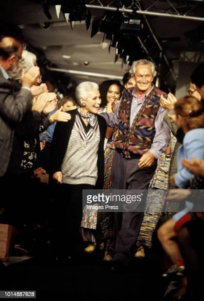 Designer Ottavio Missoniduring Milan Fashion Week circa 1992 in Milan.