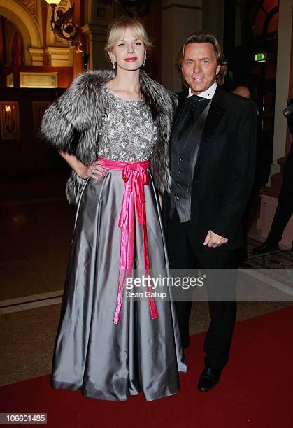 Designer Otto Kern and Naomi Valeska Kern attend the Sportpresseball 2010 at Alte Oper on November 6 2010 in Frankfurt am Main Germany