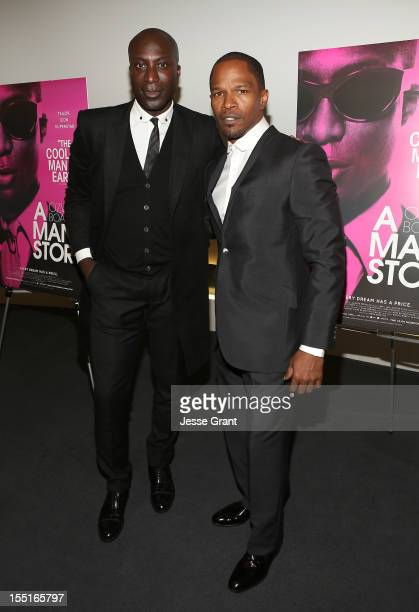 Designer Ozwald Boateng attend the Los Angeles Premiere of 'A Man's Story' at WME Screening Room on November 1 2012 in Los Angeles California