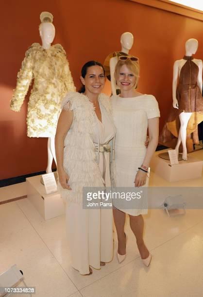 Designer Paloma Teppa and Nicoline Woehrle Dr Hauschka Global Head of Communications attend the FELDERFELDER Fashion Innovation Nature VIP Cocktail...