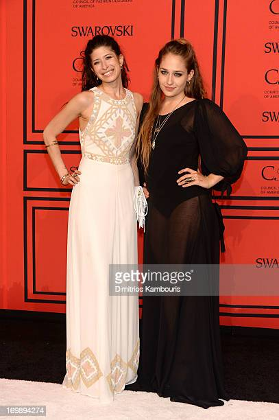 Designer Pamela Love and Actress Jemima Kirke attend 2013 CFDA Fashion Awards at Alice Tully Hall on June 3 2013 in New York City