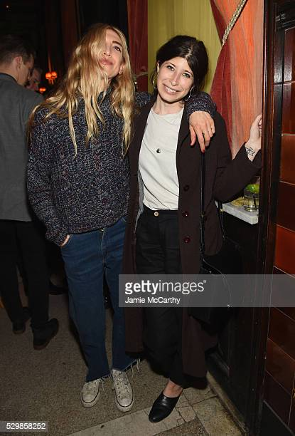 Designer Pamela Love and guest attend the launch of Ally Hilfiger's book, 'Bite Me' hosted by Ally and Tommy Hilfiger at The Jane Hotel on May 9,...
