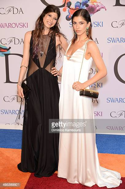 Designer Pamela Love and model Jeisa Chiminazzo attend the 2014 CFDA fashion awards at Alice Tully Hall Lincoln Center on June 2 2014 in New York City