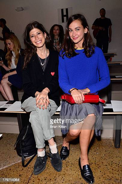 Designer Pamela Love and writer Chelsea Zalopany attend the Cushnie Et Ochs show during Spring 2014 MercedesBenz Fashion Week at Milk Studios on...