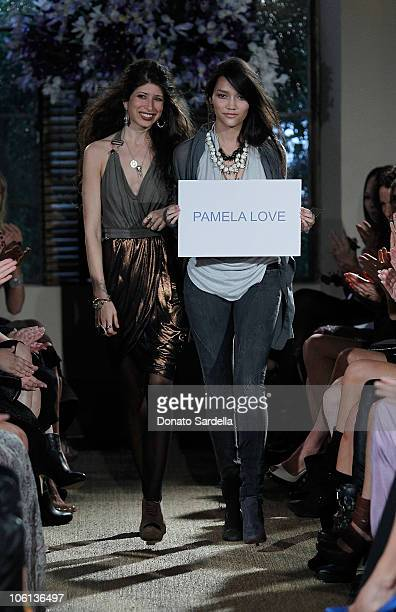 Designer Pamela Love attends the 2010 CFDA Vogue Fashion Fund Finalists Celebration with Frederic Fekkai and Lisa Love at Chateau Marmont on October...