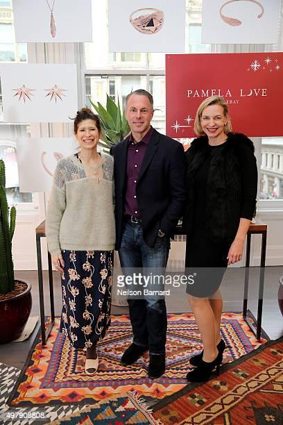 Designer Pamela Love President and CEO of eBay Devin Wenig and General Manager eBay Fashion Marcelle Parrish introduce Pamela Love for eBay – an...