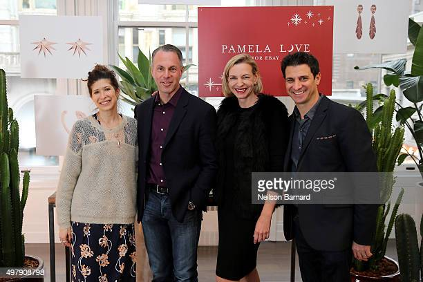 Designer Pamela Love President and CEO of eBay Devin Wenig General Manager eBay Fashion Marcelle Parrish and Chief Communications Officer at ebay Dan...