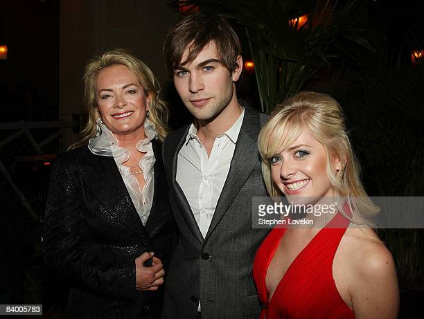 Designer Pamella Roland actor Chase Crawford and Sydney Roland attend the after party for The Curious Case of Benjamin Button screening hosted by The...