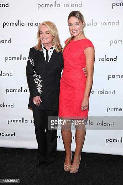 Designer Pamella Roland and actress Katrina Bowden attend Pamella Roland during MercedesBenz Fashion Week Spring 2015 at The Salon at Lincoln Center...
