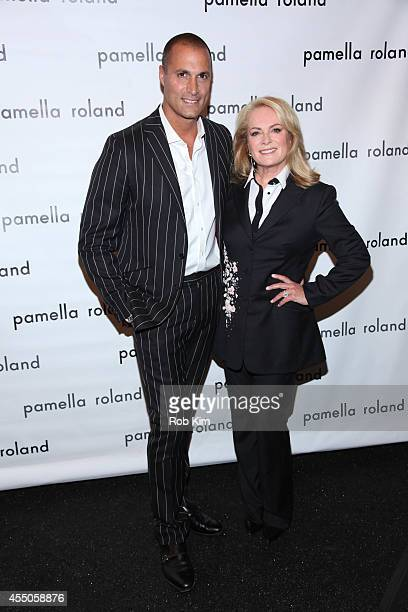 Designer Pamella Roland and photographer Nigel Barker attend Pamella Roland during MercedesBenz Fashion Week Spring 2015 at The Salon at Lincoln...