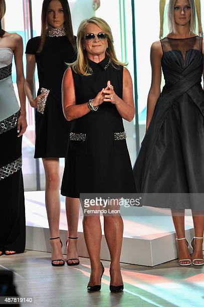 Designer Pamella Roland at the Pamella Roland Spring 2016 fashion show at The Whitney Museum of American Art on September 11 2015 in New York City