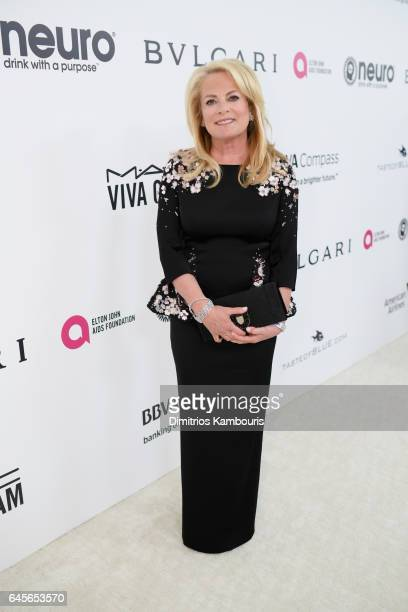 Designer Pamella Roland attends the 25th Annual Elton John AIDS Foundation's Academy Awards Viewing Party at The City of West Hollywood Park on...