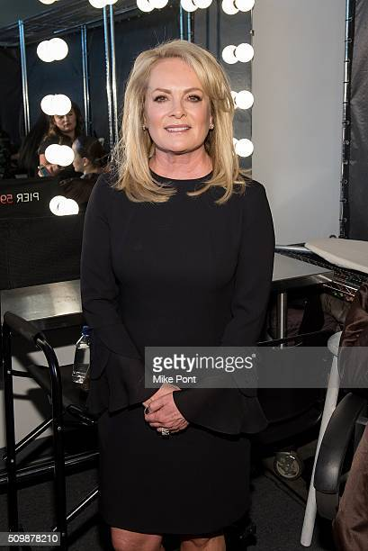 Designer Pamella Roland attends the Pamella Roland Fall 2016 fashion show at Pier 59 Studios on February 12 2016 in New York City