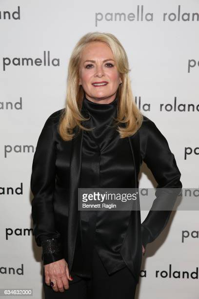 Designer Pamella Roland attends the Pamella Roland fashion show during New York Fashion Week at Pier 59 Studios on February 10 2017 in New York City