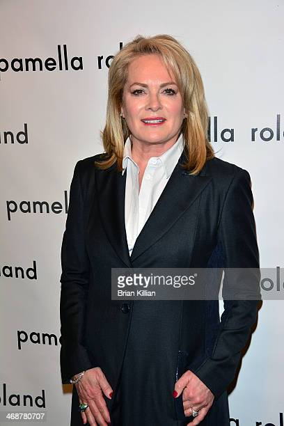 Designer Pamella Roland attends the Pamella Roland Show during MercedesBenz Fashion Week Fall 2014 at The Salon at Lincoln Center on February 11 2014...