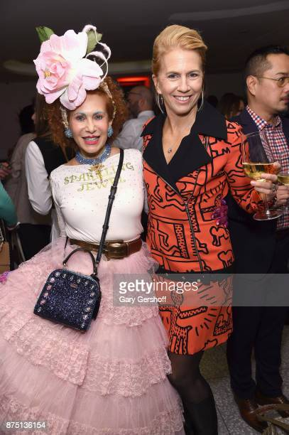 Designer Patricia Fox of Purely Patricia and Lisa Wheeler attend Housing Works' Fashion for Action 2017 charity event at Fred's at Barney's on...