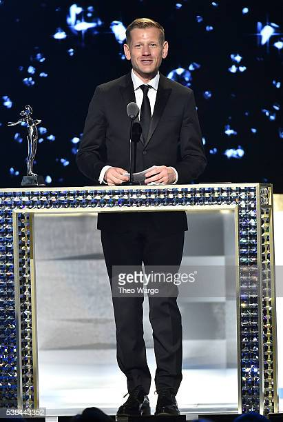 Designer Paul Andrew accepts The Swarovski Award For Accessory Design at the 2016 CFDA Fashion Awards at the Hammerstein Ballroom on June 6 2016 in...