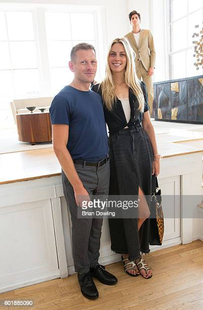 Designer Paul Andrew and Accessories Director at Vogue Magazine Selby Drummond at the Paul Andrew presentation at Ramscale Studio on September 10...