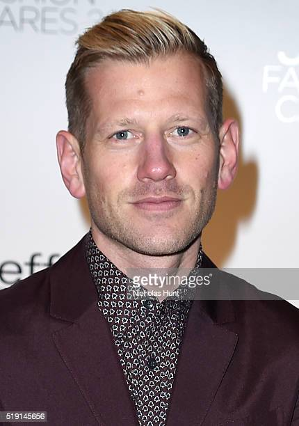 Designer Paul Andrew attends the Jeffrey Fashion Cares 13th Annual Fashion Fundraiser at the Intrepid SeaAirSpace Museum on April 4 2016 in New York...