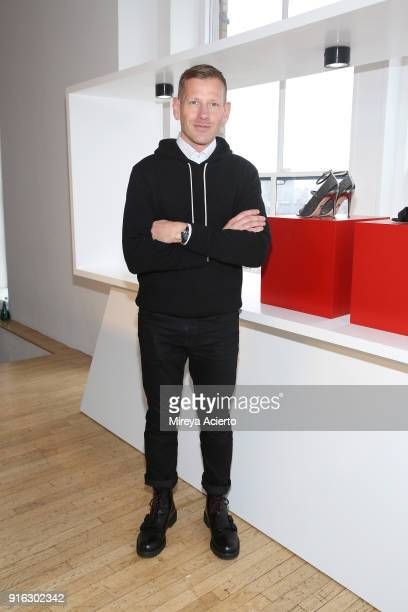 Designer Paul Andrew attends the Paul Andrew presentation during New York Fashion Week The Shows at Ramscale Studio on February 9 2018 in New York...