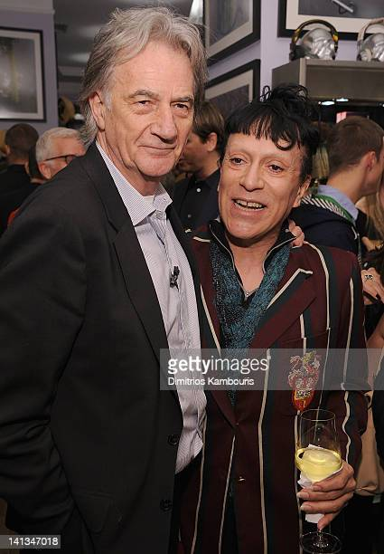 Designer Paul Smith and Joey Arias attend the Paul Smith New York 25th Anniversary celebration on March 14 2012 in New York City