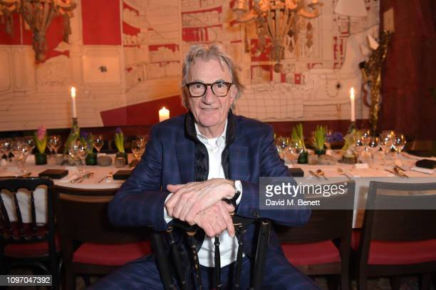 Designer Paul Smith attends the Paul Smith VIP dinner on January 20 2019 in Paris France