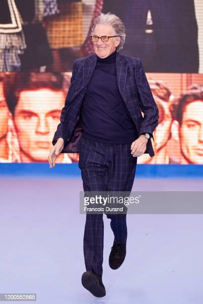 Designer Paul Smith walks the runway during the Paul Smith Menswear Fall/Winter 2020-2021 show as part of Paris Fashion Week on January 19, 2020 in...