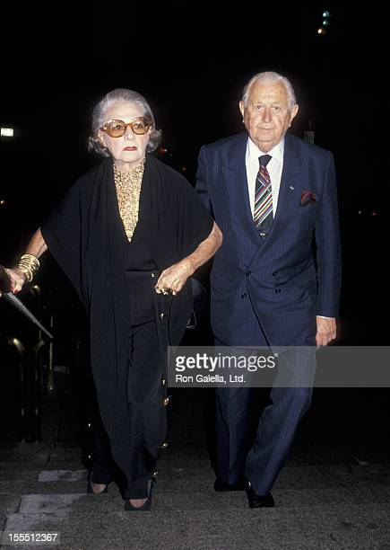 Designer Pauline Trigere and date attend the opening reception for Versailles 1973American Fashion on the World Stage Honoring Halston on September 8...
