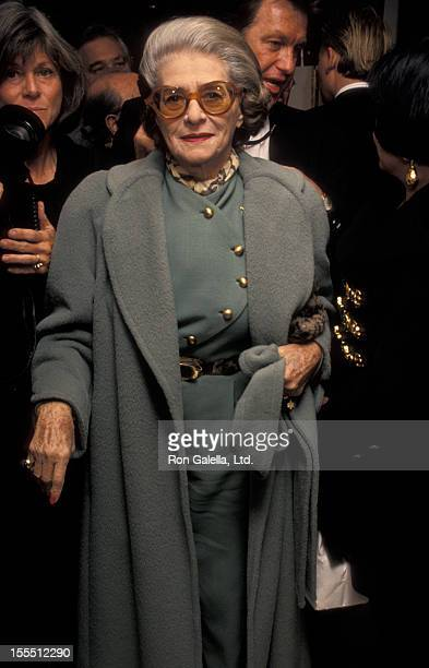 Designer Pauline Trigere attends the grand opening of MCM Leather Good and Apparel on November 30 1993 in New York City
